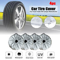 4x Car Wheel Tire Cover Tyre Case Storage Bag Truck Trailer Waterproof 65x37cm