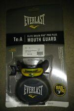NEW! Everlast Elite Brain-Pad Pro Plus Mouth Guard Mouthguard - Black & Yellow