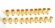 10Pair MALE/FEMALE 6.5mm BULLET CONNECTOR GOLD PLATED BANANA PLUG RC BATTERY,ESC