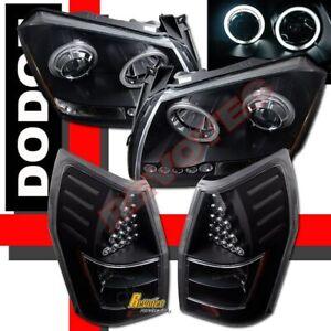 05 06 07 Dodge Magnum G3 Halo Projector Headlights & LED Tail Lights Black