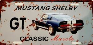 FORD MUSTANG GT SHELBY metal signs Aust Muscle cars man cave 30x15cm FREEPOST