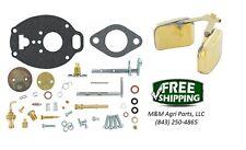 Complete Carburetor kit & Float John Deere M MC MT 40 320 330 Tractor TSX245