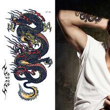 Supperb Dragon Tattoo Temporary Tattoos - Dragon on Fire II Temporary Tattoo