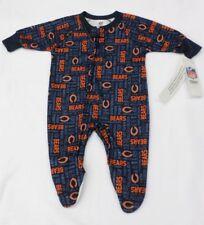 NFL Chicago Bears Newborn Footed Lightweight Navy Fleece Pajamas 6 M