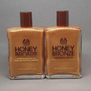 2x The Body Shop Honey Bronze Shimmering Dry Oil, #02 Golden Honey (2x 100 ml)