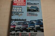2) AMS 24/1986 - Honda Accord EX 2.0 mit 106PS  - Opel Ascona 1.6 GLS mit 82PS b
