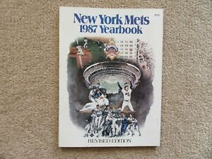 1987 New York Mets Official Yearbook Revised Edition - Mint - Never Opened