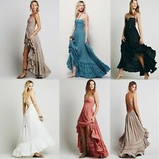 AU Long Backless Summer Beach Dress Sexy Dresses Boho Bohemian Women Fashion