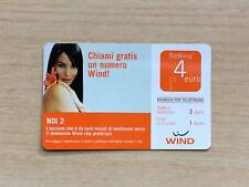 RICARICA TELEFONICA WIND - NOI 2 - CHIAMI GRATIS UN NUMERO WIND! - 4,00 EURO