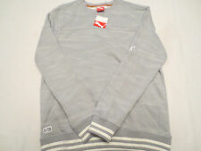 PUMA TOPO GRAPHIC SWEAT CREW SHIRT QUARRY 568561 20 Mens Size LARGE L $80 NWT