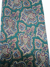 JOS. A. Bank Collection Paisley Silk Tie Green Purple Pink Blue Beige White