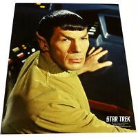 *LEONARD NIMOY* Pensive MR. SPOCK ON BRIDGE Star Trek COLOR PHOTOGRAPH 8x10 TOS