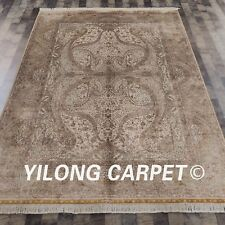 YILONG 6'x9' HandKnotted Silk Area Rug Furniture Match Classic Carpets Z014A