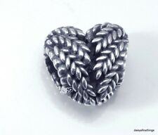 AUTHENTIC PANDORA SILVER CHARM  ICON OF NATURE HEART #797618