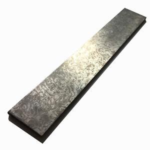 Stainless Steel Damascus Billet Mokume Gane Knife Handle Blank - 200x30x3mm Sky