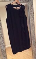 FRENCH CONNECTION BLACK FRILL PARTY COCKTAIL DRESS SIZE 12/14