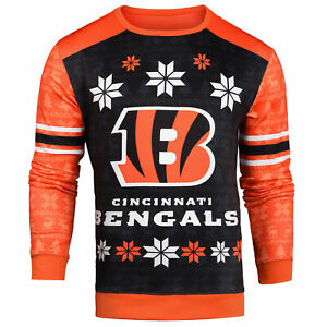 Forever Collectibles NFL Men's Cincinnati Bengals Printed Ugly Sweater