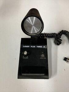 TURNER PLUS THREE +3 B Desk Top MICROPHONE Ham CB Radio tested 4 Pin