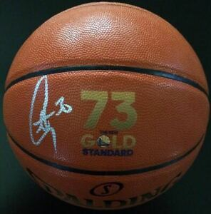 STEPHEN CURRY Autographed Record Breaking Logo Basketball FANATICS