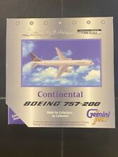 GEMINI JETS - LIMITED EDITION - CONTINENTAL AIRLINES - BOEING 757-200 - 1:400