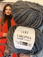 800g Wolle Lang Yarns Wool Virgin VIRGINIA FLAME Schurwolle Merino Grau Graphit