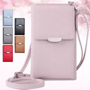 Handbag PU Leather Crossbody Shoulder Bag CellPhone Purse Wallet For Women Girl