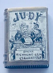"""Victorian Solid Silver & Enamel Judy Novelty Vesta Case"" Birmingham 1886 Rare"