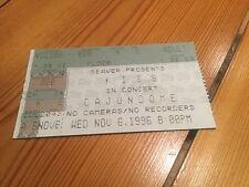 Kiss 6th November 1996 Cajun Dome Ticket Reunion Tour Stub