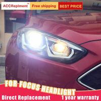 Neuer für Ford Focus Scheinwerfer Montage Bi-Xenon Linse Projektor LED DRL 15-18