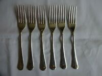 Vintage Cooper Bros Silver Plated EPNS A1 Dinner Forks x 6 Old English 19 cm