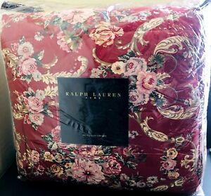 New RALPH LAUREN Danielle Marseilles Dark Red Floral FULL QUEEN COMFORTER