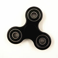 Black Tri-Spinner Fidget Toy Plastic EDC Hand Spinner For Autism and ADHD US