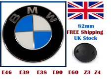 BMW Emblem Bonnet Badge Boot Hood Trunk 82mm E30 E36 E46 3 5 7 X Series SALE