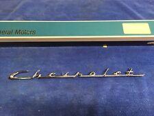 """GM 3759599 1953-55 Corvette """"CHEVROLET"""" Emblem """"NOS"""""""