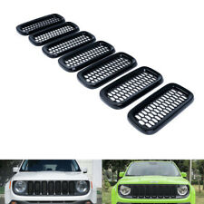 Exterior Gloss Black Grill Mesh Grilles Insert Guard Cover For Jeep Renegade #ya