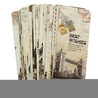 30pcs Paris Eiffel Tower Vintage Retro Paper Book Mark Bookmark Book Label FadT~