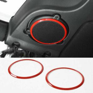 √For Jeep Wrangler JK 2007 2008-2010 Red Inner Car Roof Speaker Ring Cover Trim