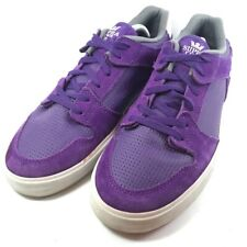 SUPRA Mens Skate Shoes Purple White Lace Up Low Top Sneakers US 10.5