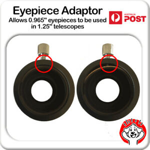 """Eyepiece Adaptor - Allows 0.965"""" eyepieces to be used in 1.25"""" Telescopes"""
