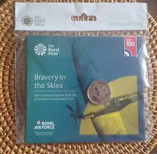 2018 RAF Centenary Spitfire £2 Pound Coin Royal Mint pack Brilliant Uncirculated