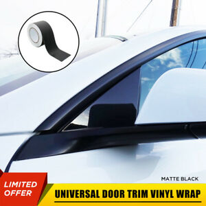 "65' 3"" Matte Black Vinyl Wrap Roll Sheet Film For Door Trim Tint Chrome Delete"