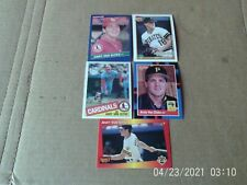 Lot of 57 vintage baseball cards All different players, years. All pictured
