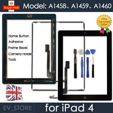 Black Screen for iPad 4 Touch Digitizer Replacement Mid Frame Bezel Home Button