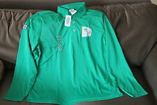 Volunteer Torch relay polo Green 2010 Vancouver Winter Olympic long sleeve New