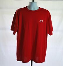 Under Armour Red Short Sleeve Athletic Shirt Men's Sz Xl