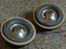 """Very Rare KEF T15 Aluminized Melinex 2"""" Tweeters Match Pair Nice Tested A+"""