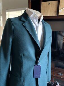 harris wharf london Jacket Blazer Sz50 Eu Bottle Green 100% Wool Made In 🇮🇹