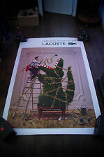LACOSTE JEAN PAUL GOUDE A 4x6 ft Bus Shelter Original Fashion Advertising Poster