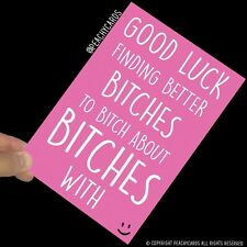 Funny New Job Card Coworker Leaving Good Luck Congrats Banter Office Jokes PC453