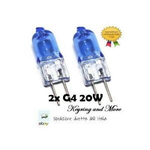 per illuminazione dei fornelli luci di segnalazione 12 V luce bianca calda illuminazione a binario 12 lampadine alogene da 20 W KAKALUOTE luce bianca trasparente a 2 pin Lampadine alogene G4